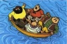 Captain Pugwash - Jake and his crew with a fit of the sneezes